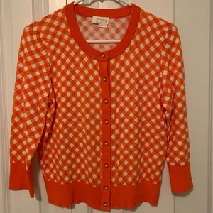 Kate Spade ♠️ Live Colorfully Orange Cardigan